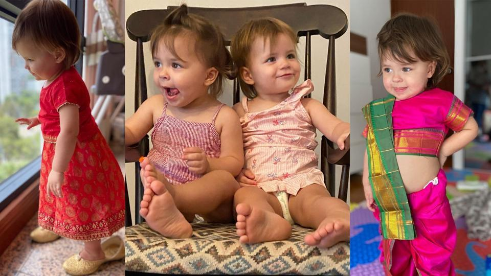 Lisa Ray's twin daughters are having all the fun.