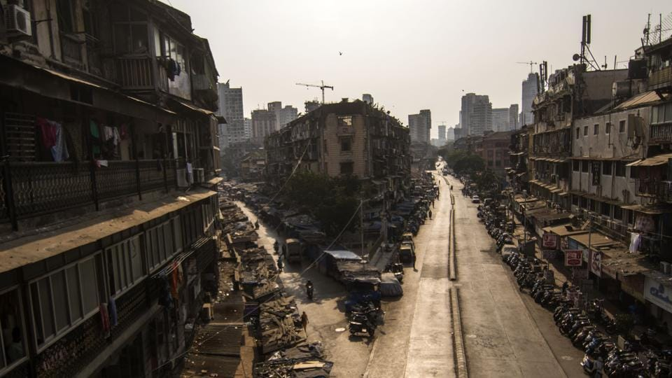 Deserted view of Null Bazar in Mumbai on March 25, 2020.
