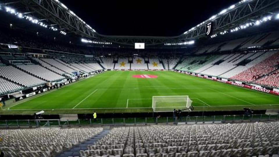 FILE PHOTO: Soccer Football - Serie A - Juventus v Inter Milan - Allianz Stadium, Turin, Italy - March 8, 2020 General view of empty seats inside the stadium before the match is played behind closed doors