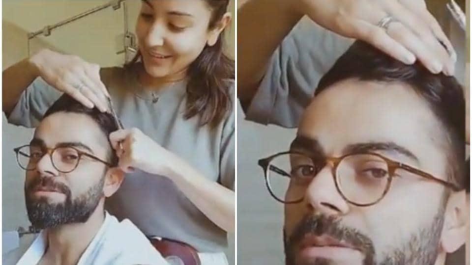 Anushka Sharma turns hair stylist for husband Virat Kohli ...