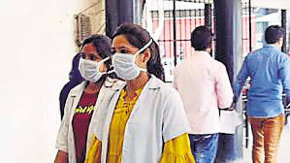 Doctors using mask as a preventive gear to protect from the Corona virus