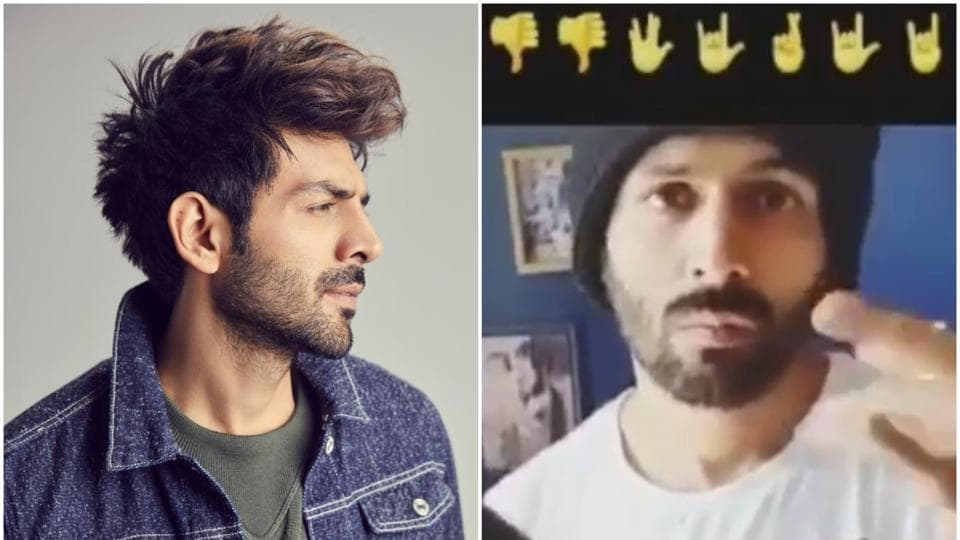 Kartik Aaryan fails miserably as he takes viral emoji challenge. Watch video