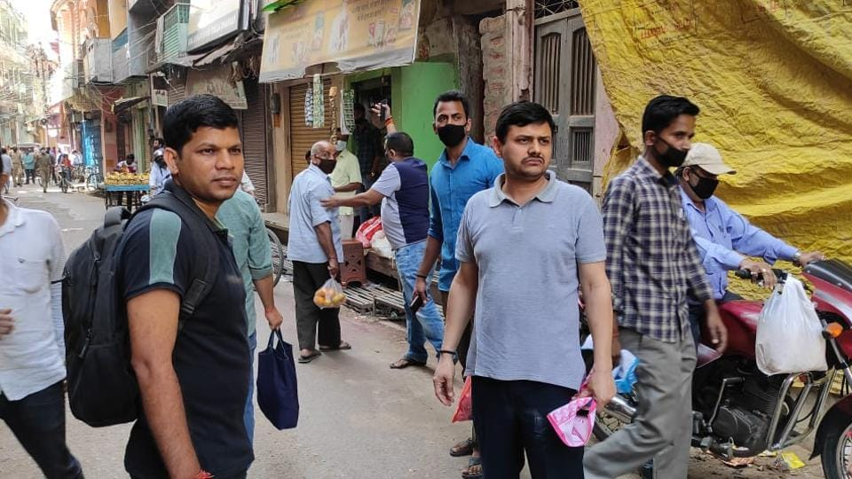 Nine shopkeepers were caught charging higher than the MRP or price fixed by the administration including those of flour, fruits, vegetables etc
