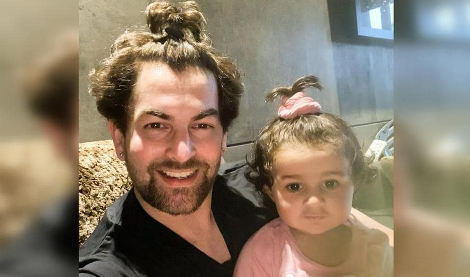 Neil Nitin Mukesh shares cute photo with daughter Nurvi: 'To convince her to make a ponytail, I had... - Hindustan Times