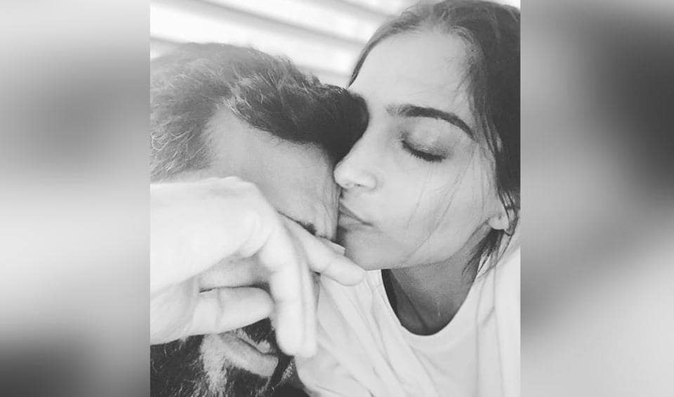 Sonam Kapoor shared a loved-up photo with husband Anand Ahuja on Instagram.