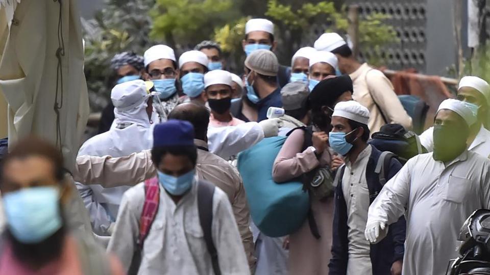 Delhi police says the members of Nizamuddin religious congregation were found in 16 different locations in Delhi )