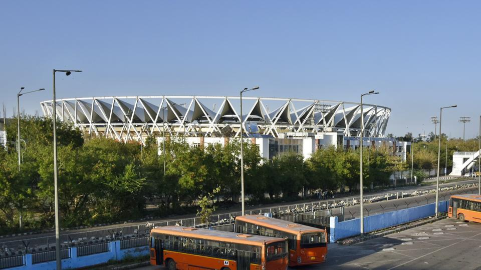 The Jawaharlal Nehru Stadium complex where the Sports Authority of India headquarters is situated.