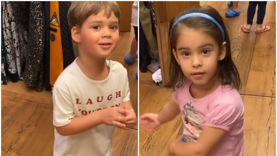 Karan Johar has been sharing funny videos of his kids, the latest one has to do with his choice of clothes.