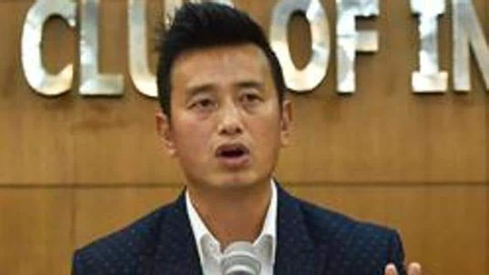 Former Indian football team captain Bhaichung Bhutia.