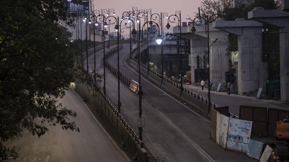 Deserted Swatantryaveer Savarkar Flyover at Paud Road, Kothrud in Pune.