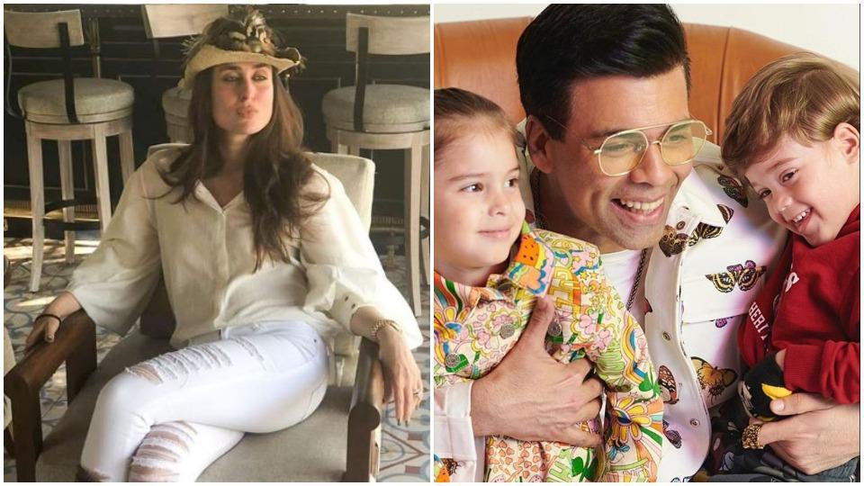 Kareena Kapoor uses the perfect line from K3G for Karan Johar as his kids shame him for having a tummy