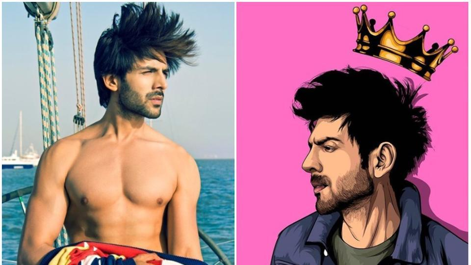 Kartik Aaryan posts hilarious pic, jokes 'even the crown can't mess with his hair', see pic