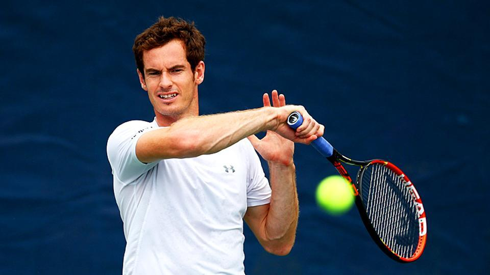 Andy Murray of Great Britain during a practice session .