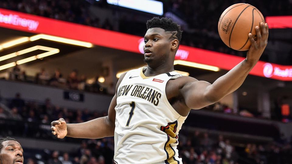 FILE PHOTO: Mar 8, 2020; Minneapolis, Minnesota, USA; New Orleans Pelicans forward Zion Williamson (1) in action against the Minnesota Timberwolves at Target Center.