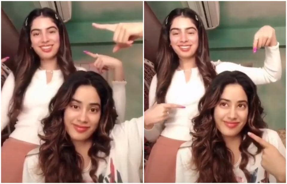 Janhvi Kapoor and Khushi Kapoor in the video.
