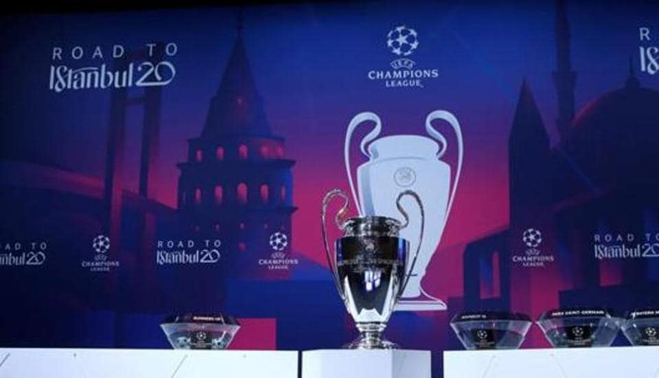 General view of the trophy before the draw.