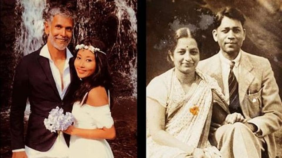 Milind Soman shares pic from grandparents' wedding day, taken 80 years before his own wedding with Ankita... thumbnail