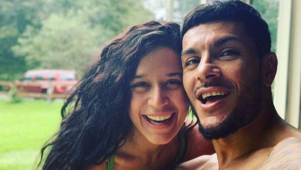 Krishna Shroff with boyfriend Eban Hyams.