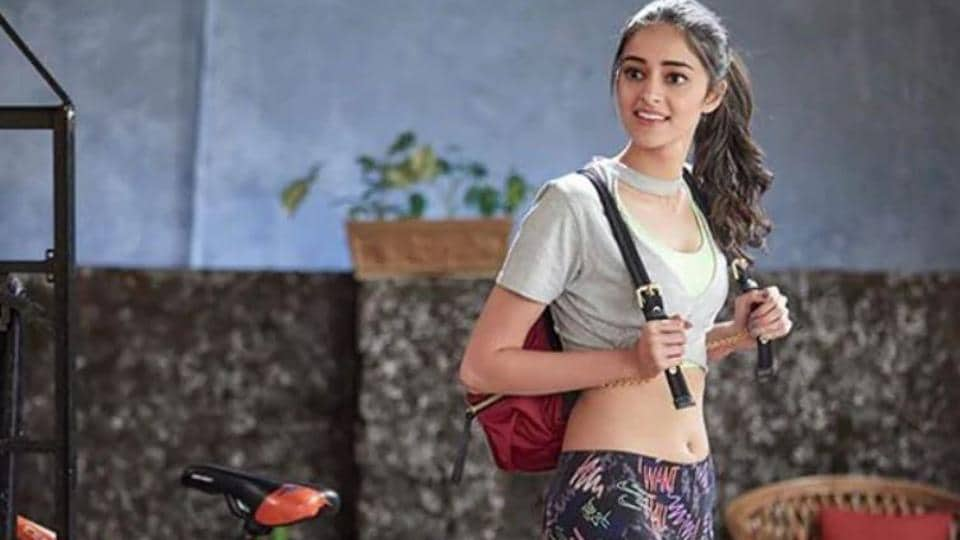 Ananya Panday in a still from Student of the Year 2.