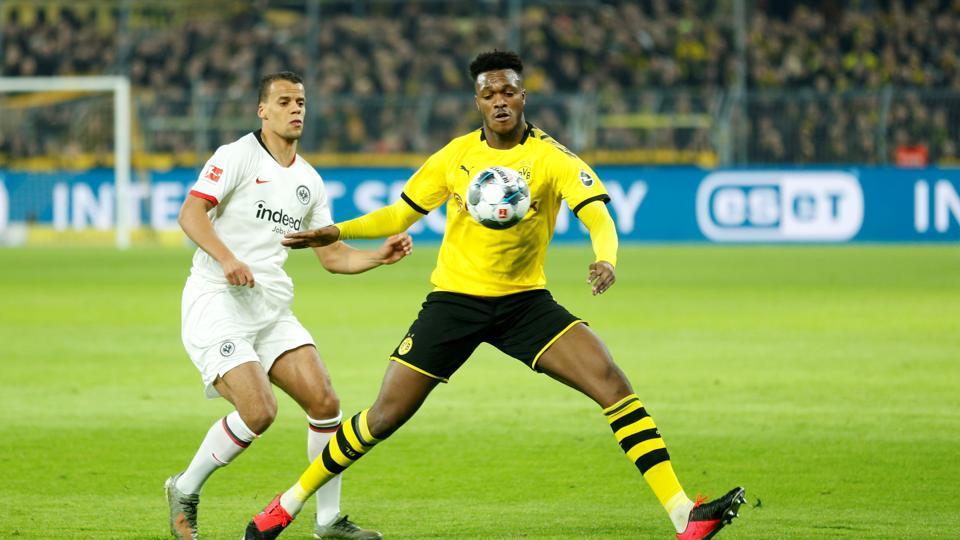 File photo of Borussia Dortmund's Dan Axel Zagadou in action