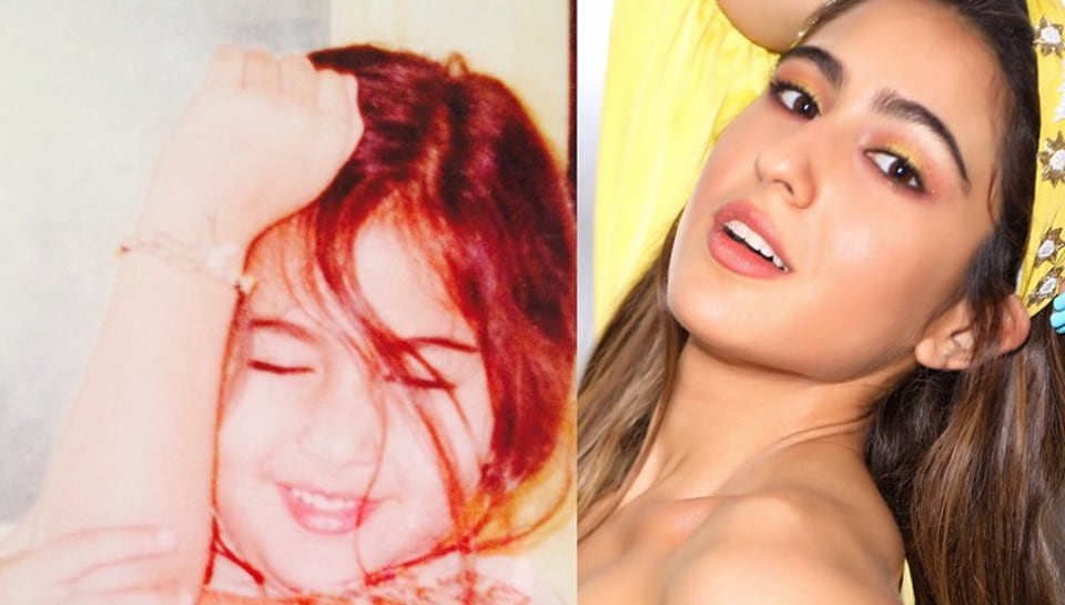 Sara Ali Khan posted a picture from her childhood.