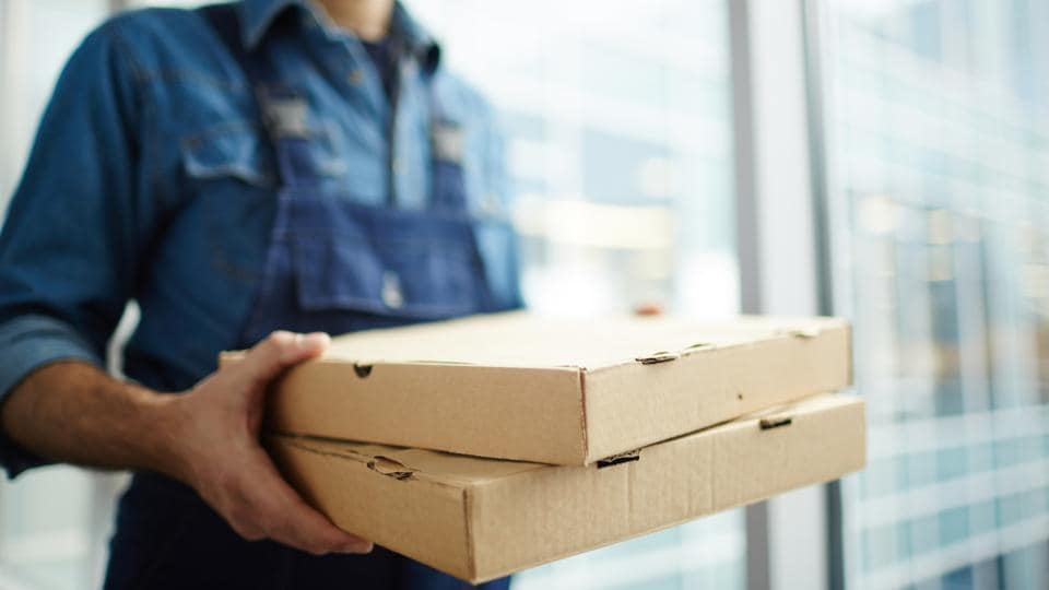 The delivery person associated with a popular pizza restaurant is now undergoing treatment at a hospital.