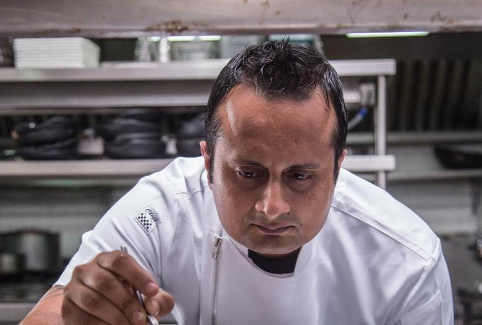 Chef Vikramjit Roy prefers to make his own sauces and condiments in bulk and stores them for use over time
