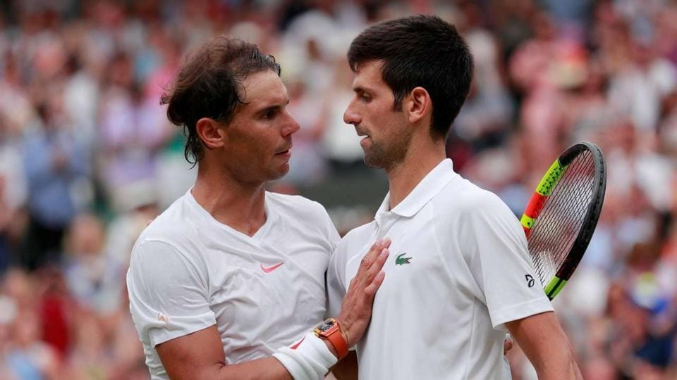 File image of Rafael Nadal and Novak Djokovic.