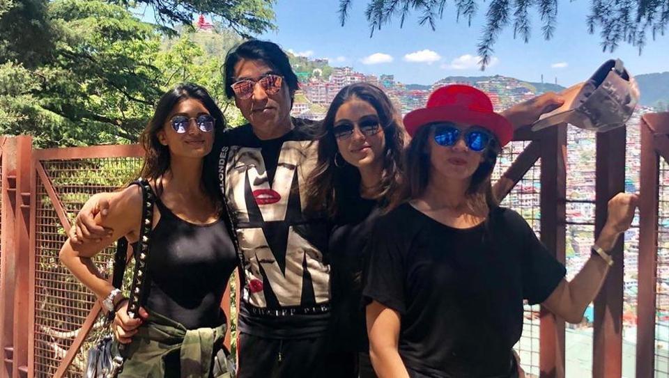 Karim Morani with daughters Zoa and Shaza Morani.