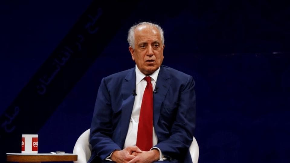 US envoy for peace in Afghanistan Zalmay Khalilzad, speaks during a debate at Tolo TV channel in Kabul, Afghanistan.
