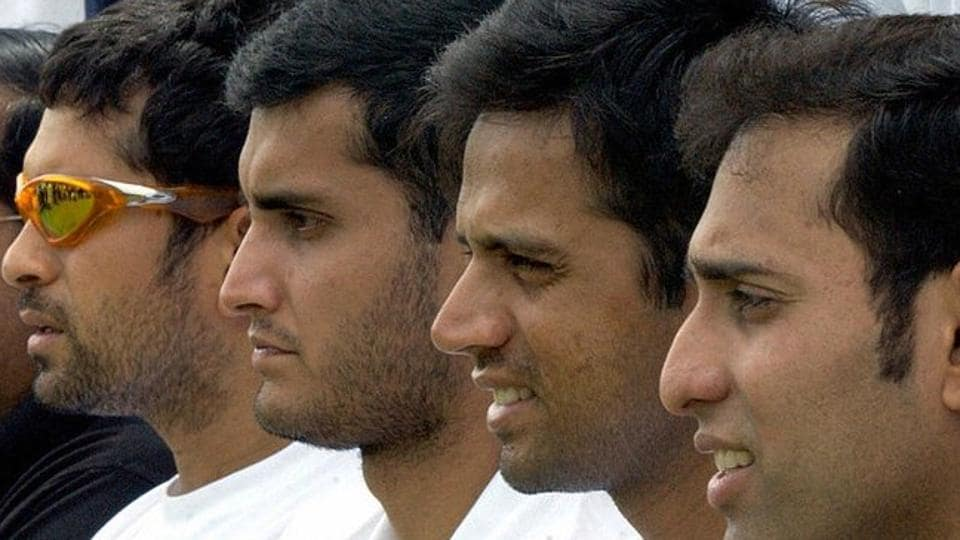 (L to R)Sachin Tendulkar, Sourav Ganguly, RahulDravid and VVSLaxman.