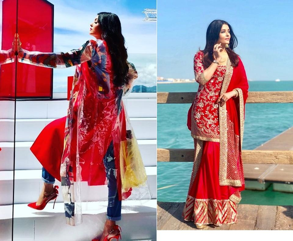 Over the years, Aishwarya Rai Bachchan has effortlessly carried a range of Indian and Western patterns and she is a designer's delight to pull off a particular silhouette. Her best looks in red.