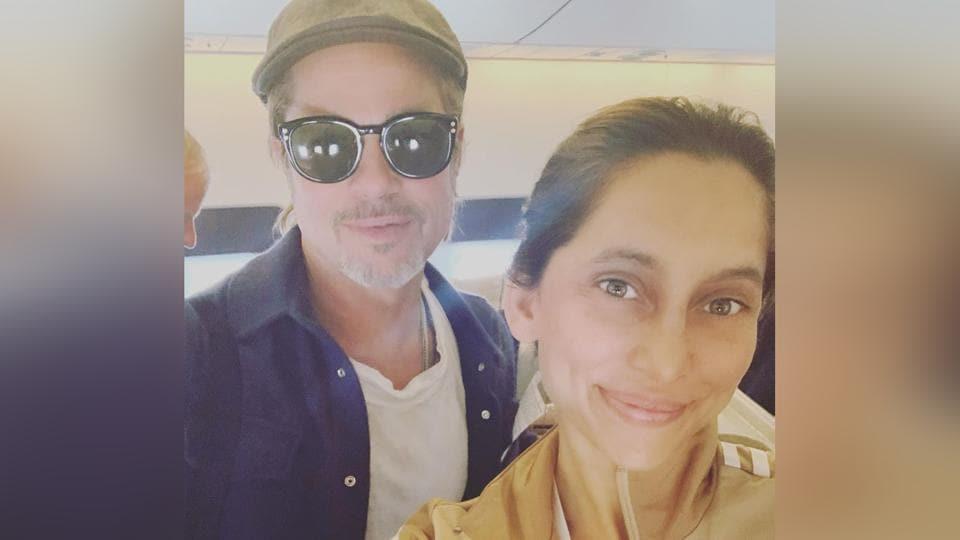 Anusha Dandekar met Brad Pitt on a flight last year.