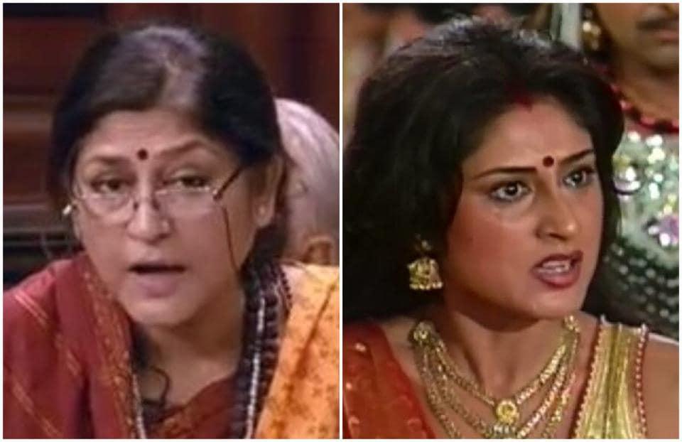 Roopa Ganguly played Draupadi in BRChopra's Mahabharat.
