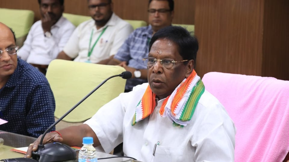 """Puducherry chief minister V Narayanasamy said, """"Even if the Central government decides to lift it, we will take a call depending on the local conditions."""""""