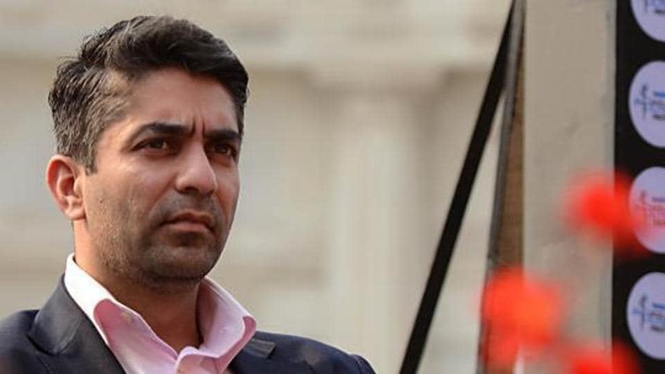 Olympic champion Abhinav Bindra a session of Kolkata Literary Meet at Victoria Memorial Hall in Kolkata,India.