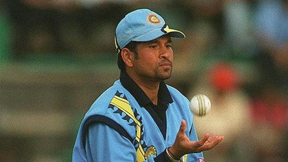 File image of Sachin Tendulkar with the ball.