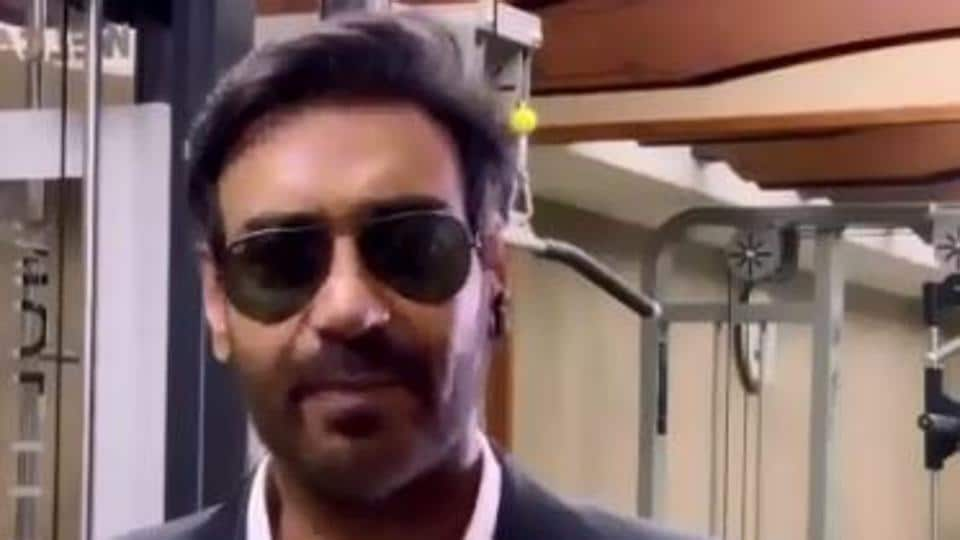 Ajay Devgn as the bodyguard 'Setu' in a screengrab from the video.