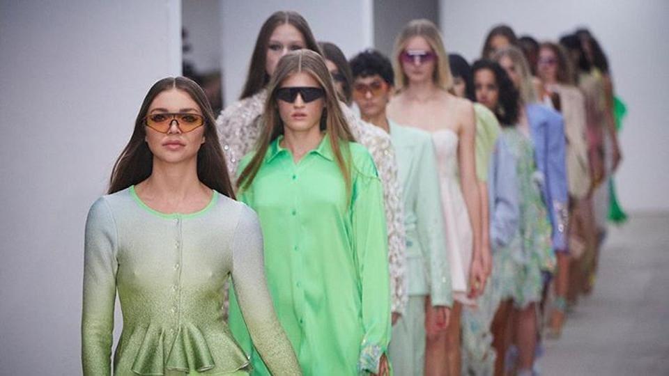 Creation by designer Roberta Einer at London Fashion Week
