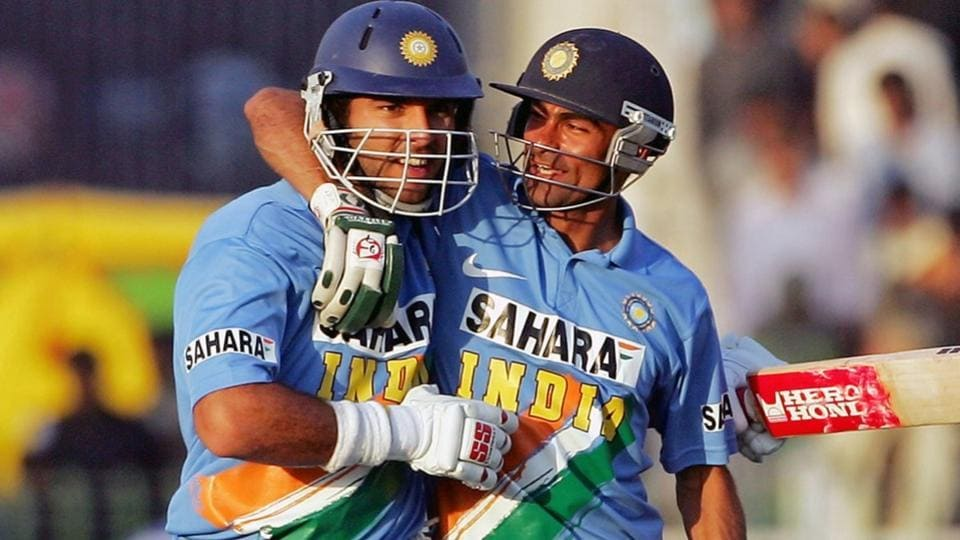 File image of YuvrajSingh and Mohammad Kaif.