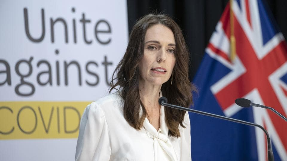 Jacinda Ardern, New Zealand's prime minister, speaks during a news conference at the Parliament in Wellington, New Zealand.