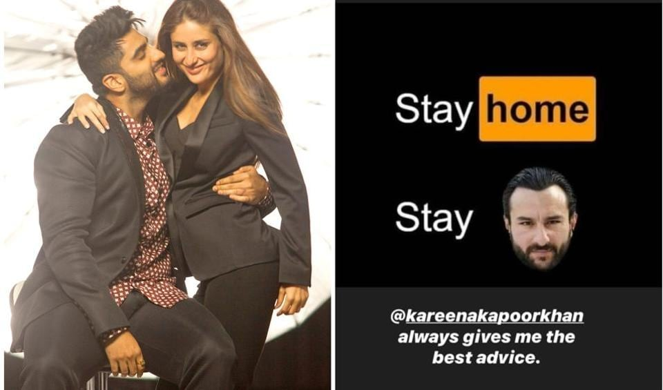 Arjun Kapoor took to his Instagram stories to share the advice that Kareena Kapoor Khan gave him.