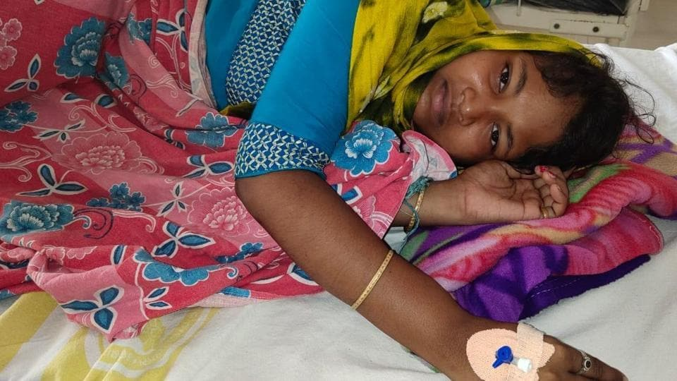Seen here is ASHA worker Subhadra, who was attacked in her home on Thursday.