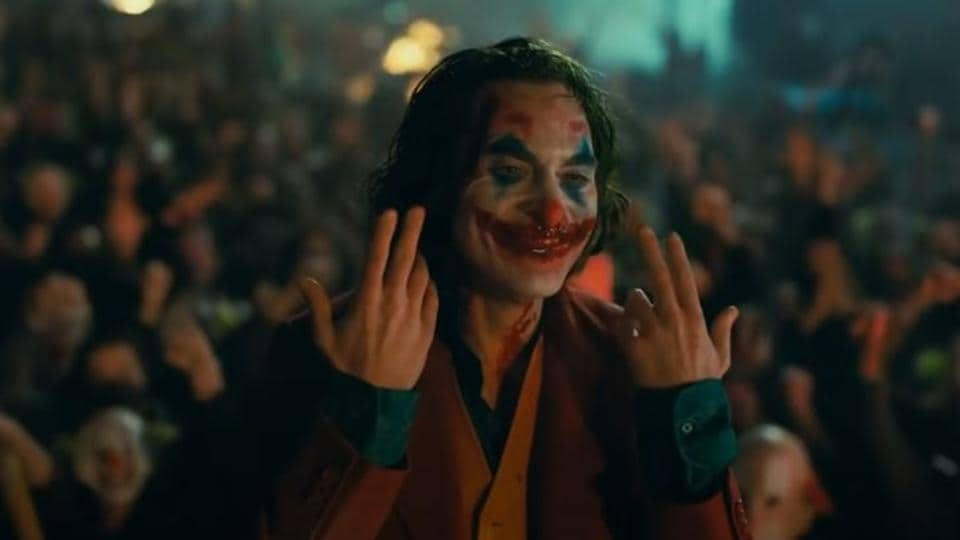 Joaquin Phoenix as Joker, in a still from the film.