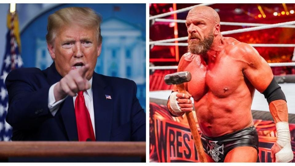 Donald Trump and Triple H.