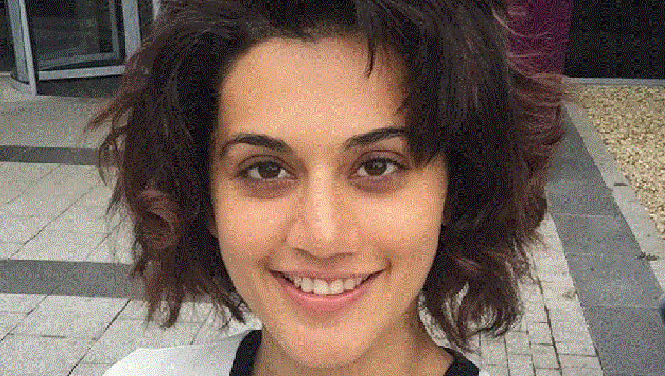 Taapsee Pannu shares a picture of her home in Mumbai.