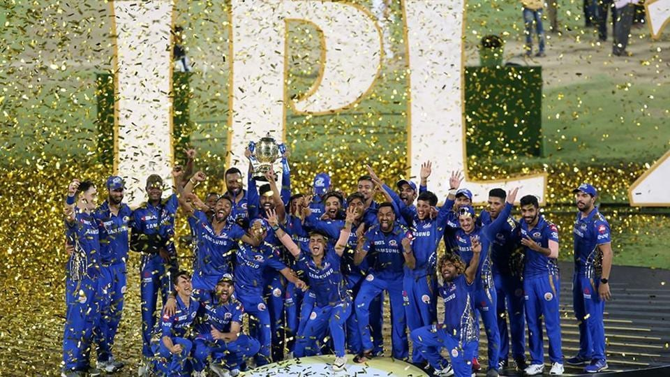 Mumbai Indians win Trophy. (IPL)