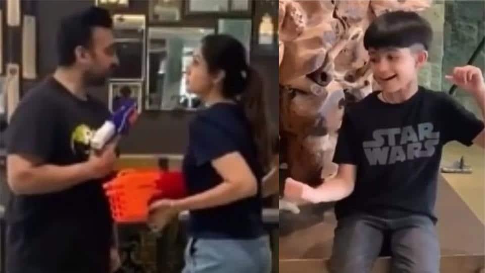 Shilpa Shetty, Raj Kundra fight as son Viaan plays ...