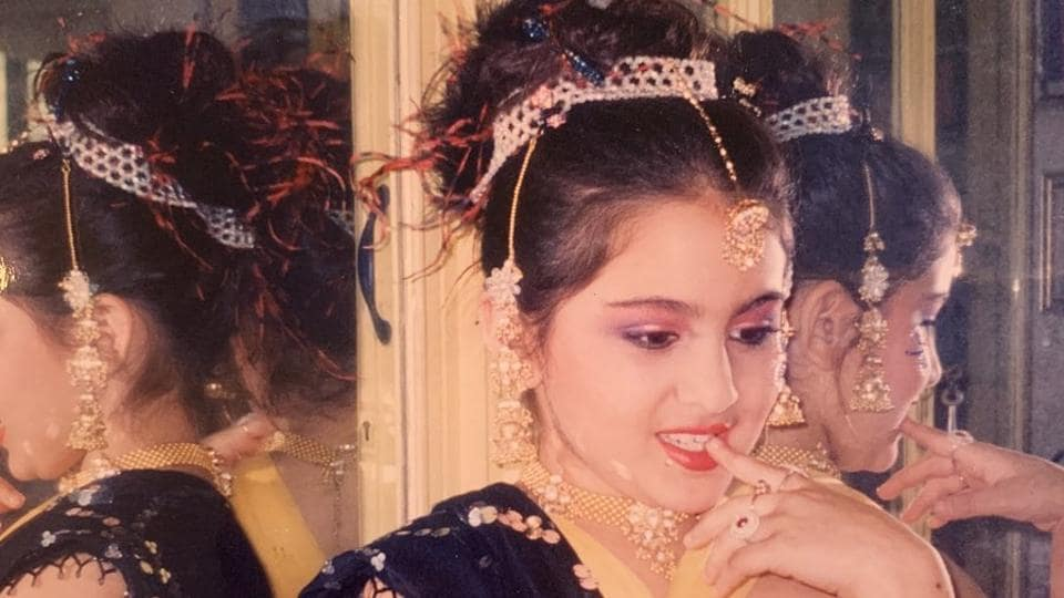 Sara Ali Khan shared two cute throwback pictures on Instagram.