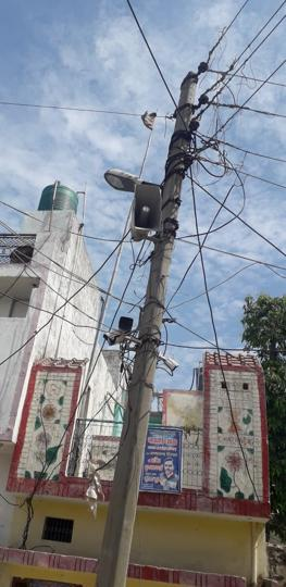 CCTV cameras and loudspeakers installed at different locations in village Upeda in district Hapur.